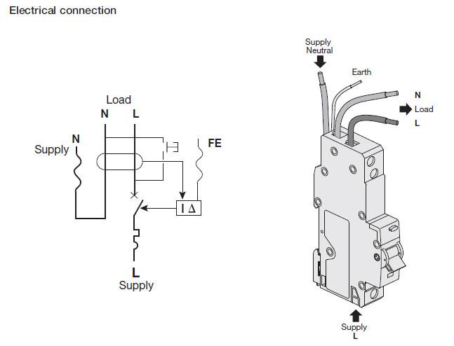 rcbo wiring diagram hager adc116 single module rcbo 16a type c 30ma 10ka, sp ... #3