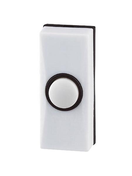 D814f Friedland D814 Sesame White Bell Push Slim White