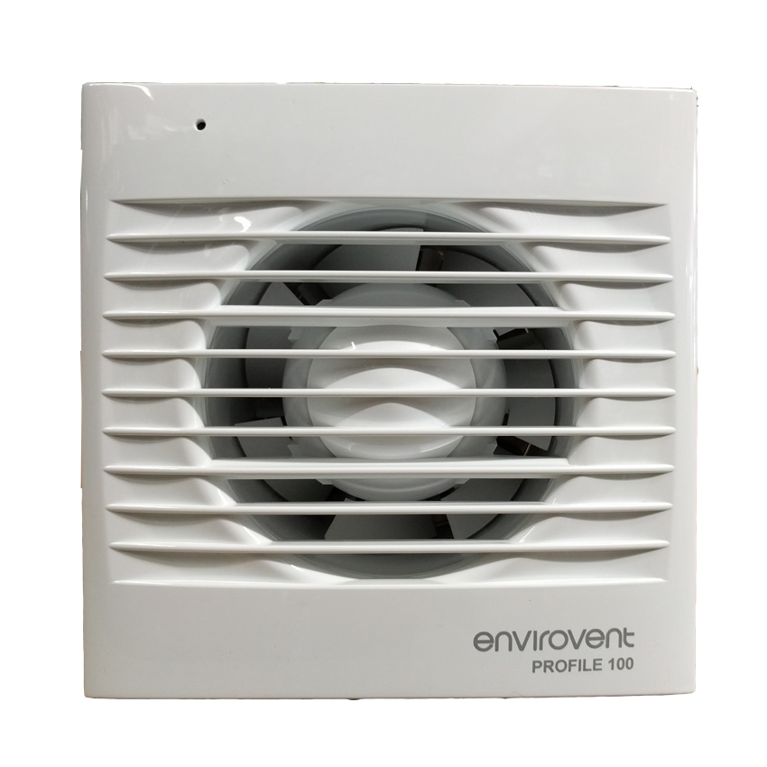 Pro100p Low Profile 100mm Extractor Fan With Pull Cord For Kitchen Bathroom Envirovent Profile 100p