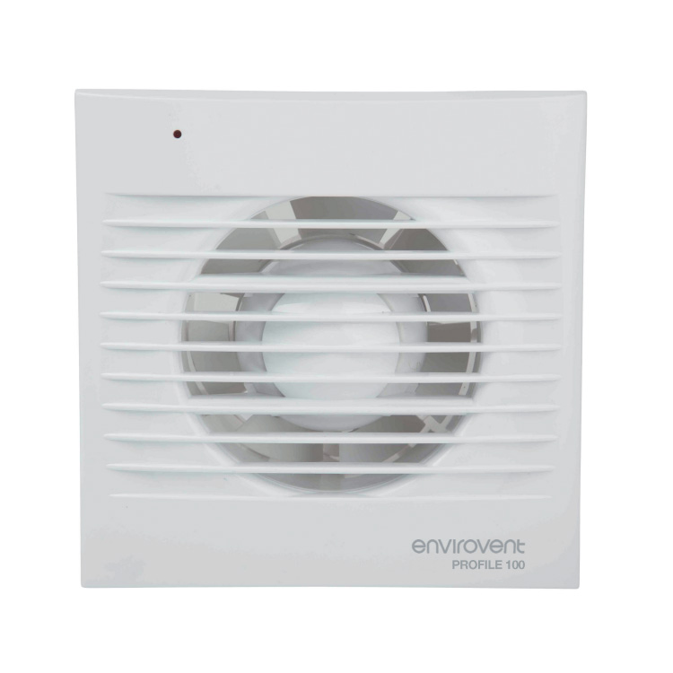 Pro100ht Low Profile 100mm Extractor Fan With Humidistat And Adjustable Timer For Kitchen