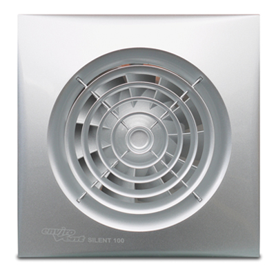 Sil100ts silent 100mm silver bathroom fan with for 5 bathroom extractor fan