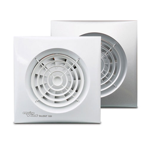 Fire Rated Exhaust Fans : Selv silent mm bathroom fan with timer humidistat and