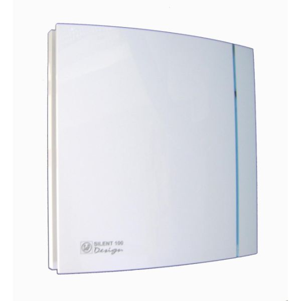 sild10ts silent 100 design silver bathroom fan with