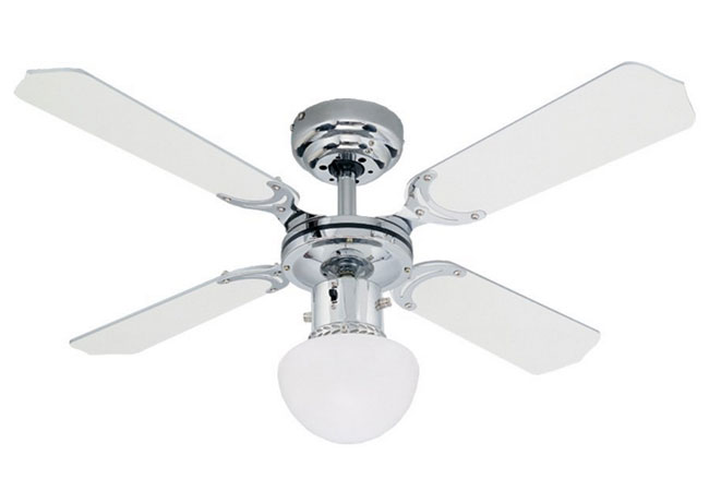 Westinghouse Ceiling Fan 90cm 36 Inch 4 Blade Chrome And