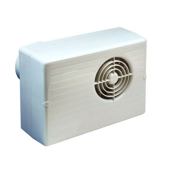 Humidity Controlled Bathroom Fan: Manrose CF200H 100mm White Centrifugal Fan With