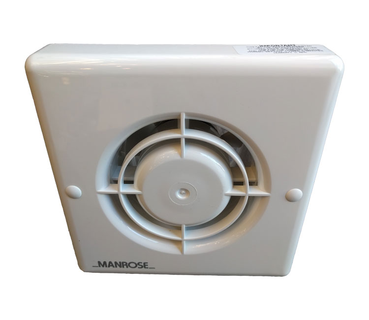 "Manrose 4/"" Bathroom Extractor Fan With Timer Toilet Ventilation Wall Ceiling"