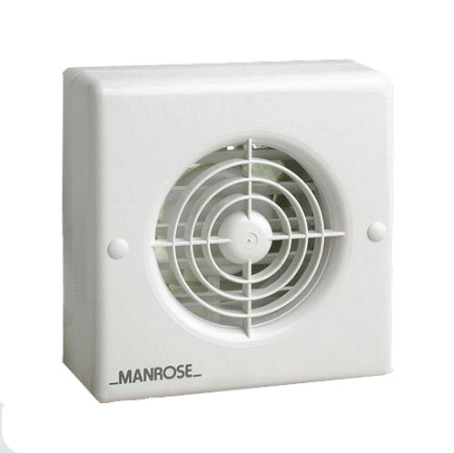 Manrose xf100t 100mm extractor fan with adjustable for 6 bathroom extractor fan with timer