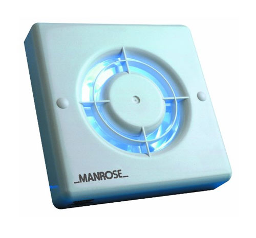 Timer Switch Bathroom Fan: Manrose XF100H 100mm Fan With Humidity Control And