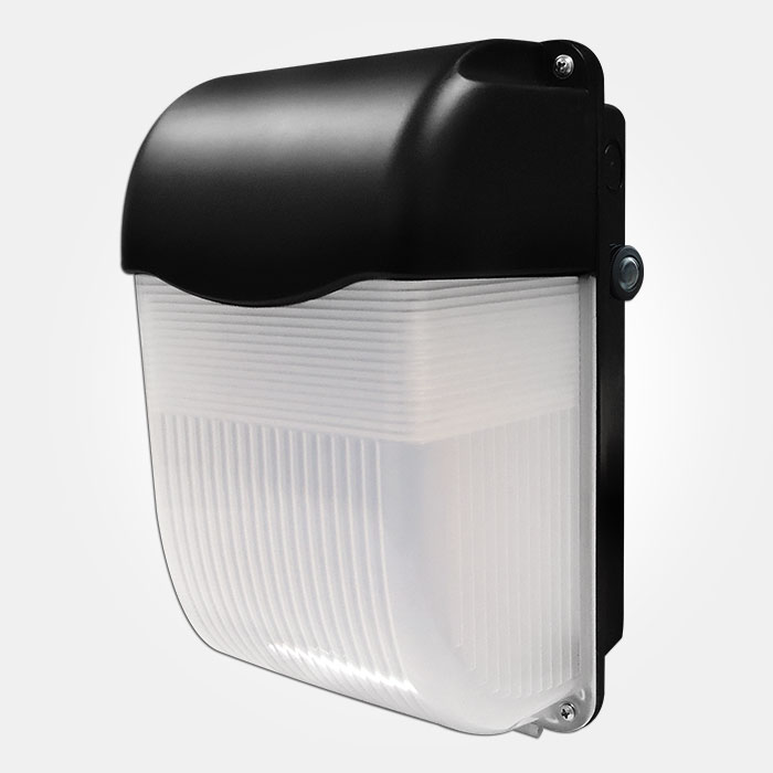 Bh11ledp Ip65 11w Led Bulkhead 6500k 900lm In Black With
