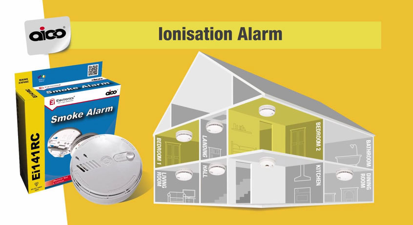 Where to install the Ionisation Smoke Alarms?