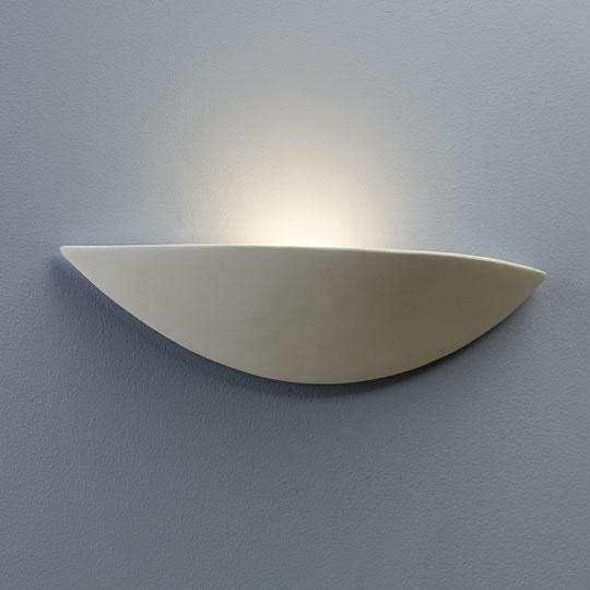 Ax0425 Slice Wall Light Astro 0425 Paintable White Ceramic Interior Wall Uplight