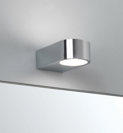 Small Chrome Wall Lights : Epsilon 0600 bathroom wall light, IP44 rated polished chrome small bathroom wall lamp AX0600