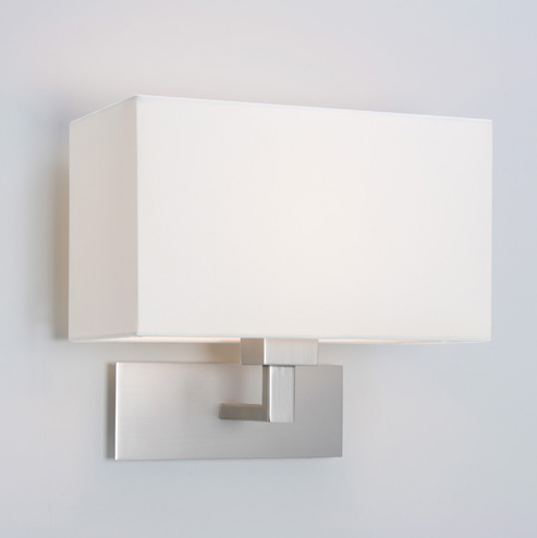 ax0763 park lane wall light in matt nickel and with