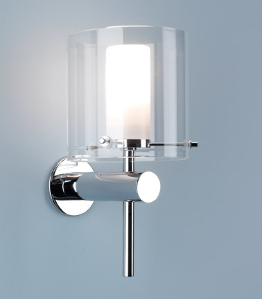 Ax0342 arezzo 0342 bathroom wall light ip44 polished for Contemporary bathroom ceiling lights
