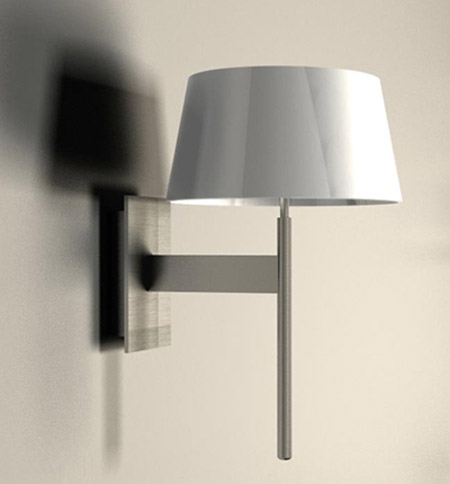 Wall Sconces With Dimmer : AX0331 - Carolina Polished Chrome Wall Sconce with ON/OFF Touch Dimmer and Conical Shade