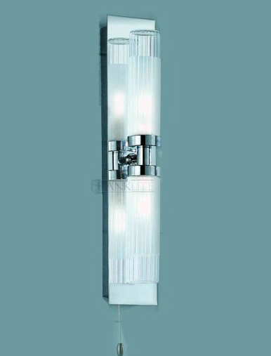 Lights » Modern double bathroom light, IP44 2 tube vertical light