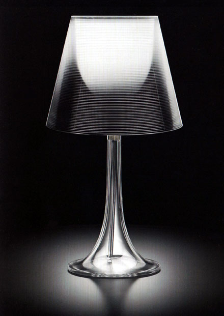 Flos miss k transparent table lamp designed by philippe for Flos miss k table lamp uk