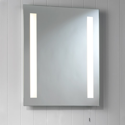 Ax0360 livorno mirror cabinet light wall mounted mirror for Lights for bathroom mirror