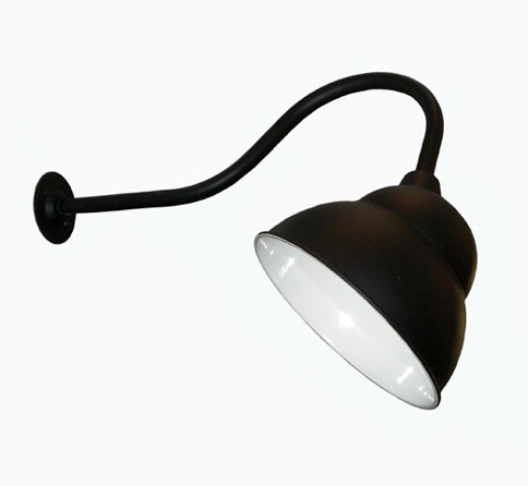Swan Neck Sign Light Pub Light - Black - Lighting Locations