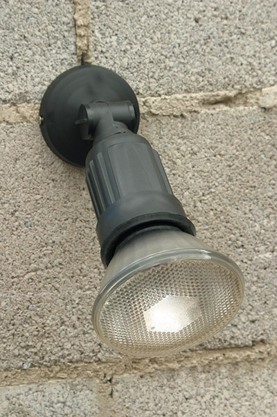 Pos150 Surface Outdoor Wall Spotlight In Black With