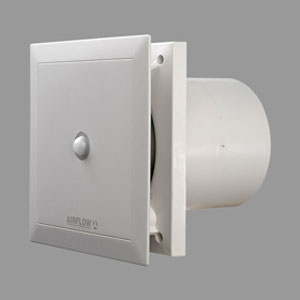 high performance bathroom fan with motion detector - the Airflow QuietAir QT120MST