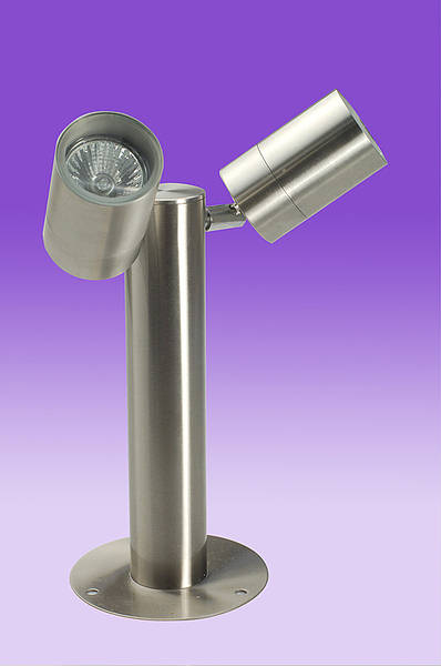 Twin Lamp Ground Post Spots Two GU10 Spots outdoor stand
