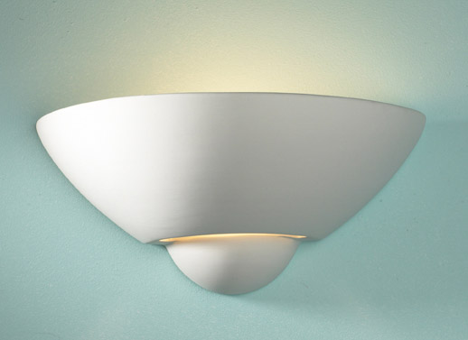 Wall Uplighter Lamps : Vector Unglazed Wall Uplighter (Paintable Wall Light) VECTOR